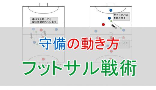 【図解あり】フットサル戦術練習の決定版!ディフェンスの動き方を徹底解説